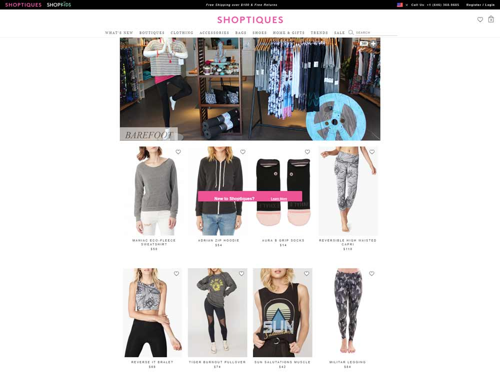 shop online or in store Barefoot an athleisure boutique in Spring Lake, NJ