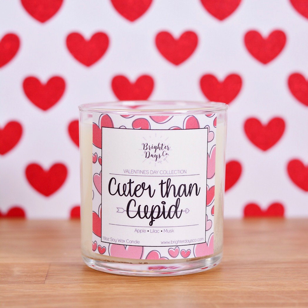 Brighter Days Co. Cuter Than Cupid Candle at Barefoot Athleisure in Spring Lake, NJ