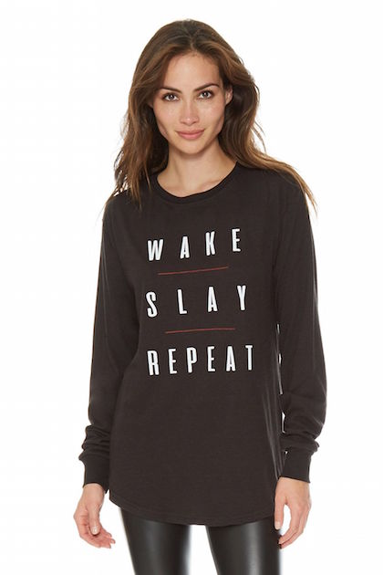 wake slay repeat at barefoot athleisure in spring lake nj